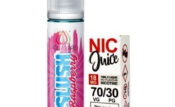 Aqua Vape Slush Raspberry Shortfill Including Nic Shot