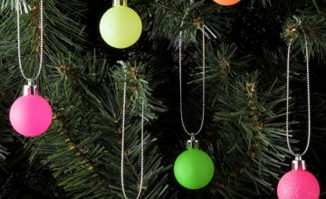 Argos Home 48 Pack Christmas Rhapsody Baubles Multicoloured