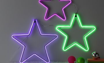 Argos Home 3 Pack of Christmas Rhapsody Neon Stars