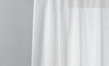 Argos Home Linen Look Ladder Voile Curtain Panel