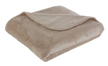 Argos Home Supersoft Throw - Latte