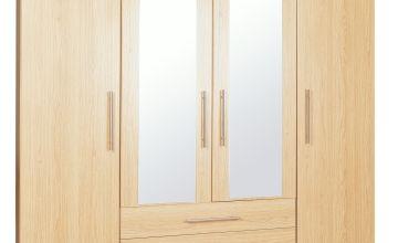 Argos Home Normandy 4 Door 3 Drawer Mirror Wardrobe