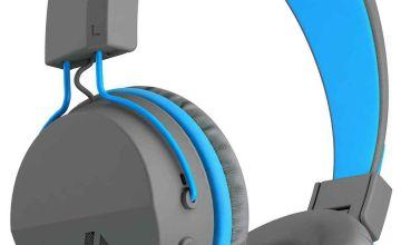 JLab JBuddies Kids Wireless Headphones - Grey/ Blue