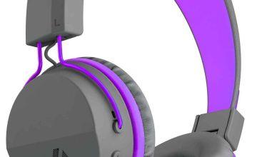 JLab JBuddies Kids Wireless Headphones - Grey/ Purple