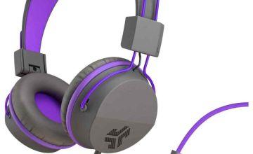 JLab JBuddies Kids Headphones - Grey/ Purple