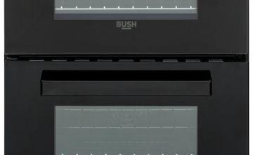 Bush DHBEDC50B 50cm Double Oven Electric Cooker - Black