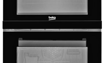 Beko KDV555AK 50cm Twin Oven Electric Cooker - Black