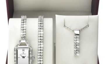 Accurist Ladies' Stone Set Watch and Jewellery Gift Set