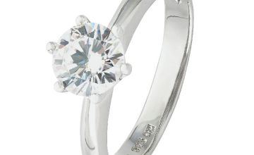 Revere Sterling Silver Round Cubic Zirconia Ring