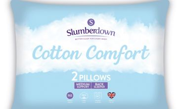 Slumberdown Cotton Comfort Medium Pillow - 2 Pack