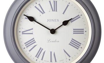 Jones Supper Club Wall Clock - Grey