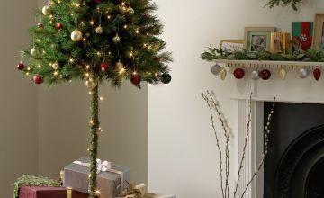 Argos Home 6ft Half Parasol Christmas Tree - Green