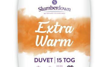Slumberdown Extra Warm 15 Tog Duvet