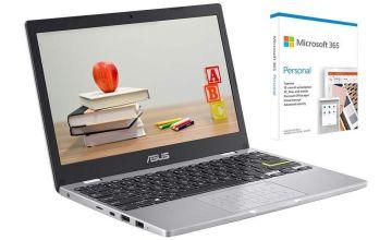 ASUS E210 11.6in Celeron 4GB 64GB Cloudbook - White