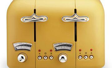 De'Longhi CT04.Y Argento Silva  Toaster - Yellow