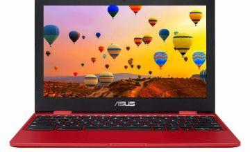 ASUS C223 11.6in Celeron 4GB 32GB Chromebook - Red