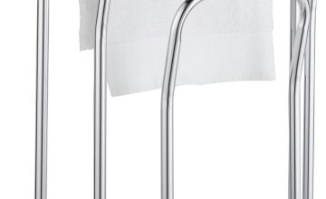 Argos Home 3 Bar Freestanding Curved Towel Rail Chrome Plate