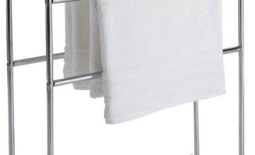 Argos Home Traditional 5 Tier Freestanding Towel Rail Chrome