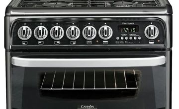 Hotpoint Cannon CH60DHKF 60cm Double Dual Fuel Cooker -Black