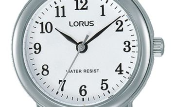 Lorus Ladies  Black Leather Strap Watch