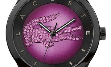 Lacoste Ladies Valencia Black Silicone Strap Watch