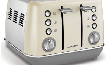 Morphy Richards 240107 Evoke 4 Slice Toaster - Cream