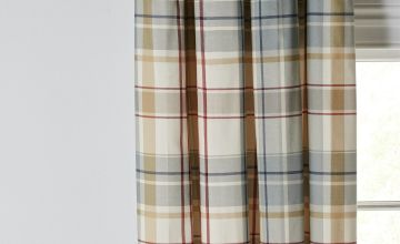 Argos Home Printed Check Eyelet Curtains