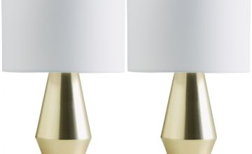 Habitat Maya Pair of Touch Table Lamps - Gold & White