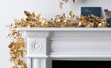 Argos Home 2m Enchanted Christmas Gold Foliage Garland