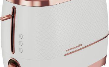 Beko TAM8202T Cosmopolis 2 Slice Toaster- Teal & Chrome