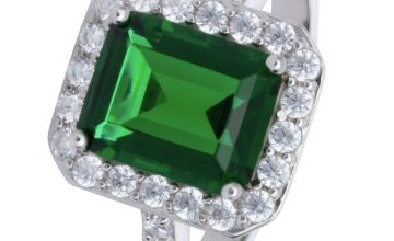 Revere Sterling Silver Emerald Colour Cubic Zirconia Ring