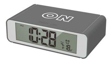 Precisions Flip Alarm Clock - Grey