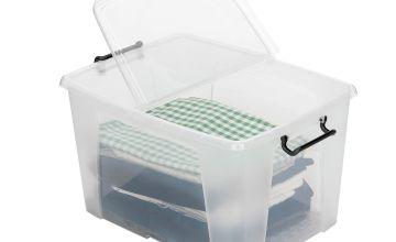 Strata 40 Litre Front Opening Plastic Storage Box - Set of 2