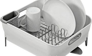 simplehuman Compact Dish Rack - White