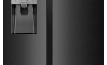 Hisense RS694N4TB1 American Fridge Freezer - Black