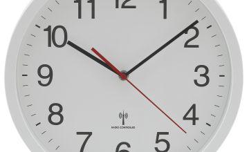 Argos Home Radio Controlled Wall Clock - White