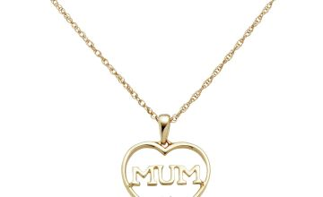 Moon & Back 9ct Gold Plated 0.03cttw Diamond Pendant