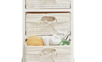 Argos Home Isla Storage Unit with 3 Baskets - White
