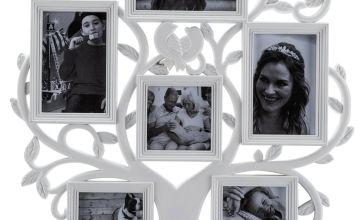 Argos Home 6 Print Family Tree Photo Frame - White