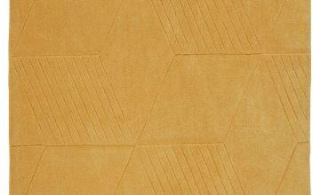 Argos Home Lawson Geometric Rug - 160x120cm - Ochre