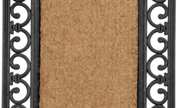 Argos Home Coir and Rubber Doormat - 45x75cm