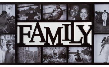 Argos Home Family 10 Print Photo Frame - Black