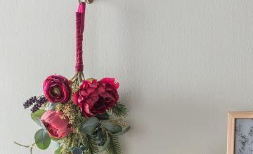 Argos Home Enchanted Christmas Floral Foliage Swag End