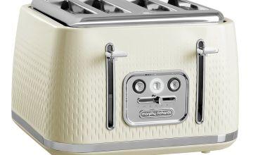 Morphy Richards 243011 Verve 4 Slice Toaster - Cream