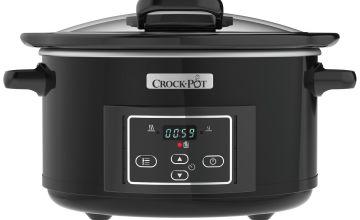 Crock-Pot 4.7L Hinged Lid Digital Slow Cooker - Black
