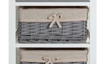 Argos Home Isabelle 1 Drawer & 2 Basket Storage Unit - Grey