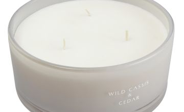 Argos Home Wild Cassis and Cedar Multiwick Candle