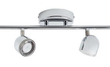 Argos Home Cleo 4 LED Spotlight Bar - Chrome