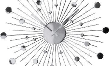 Argos Home Satellite Decorative Wall Clock - Silver