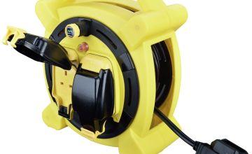 Masterplug 2 Socket 10 Metre Case Reel